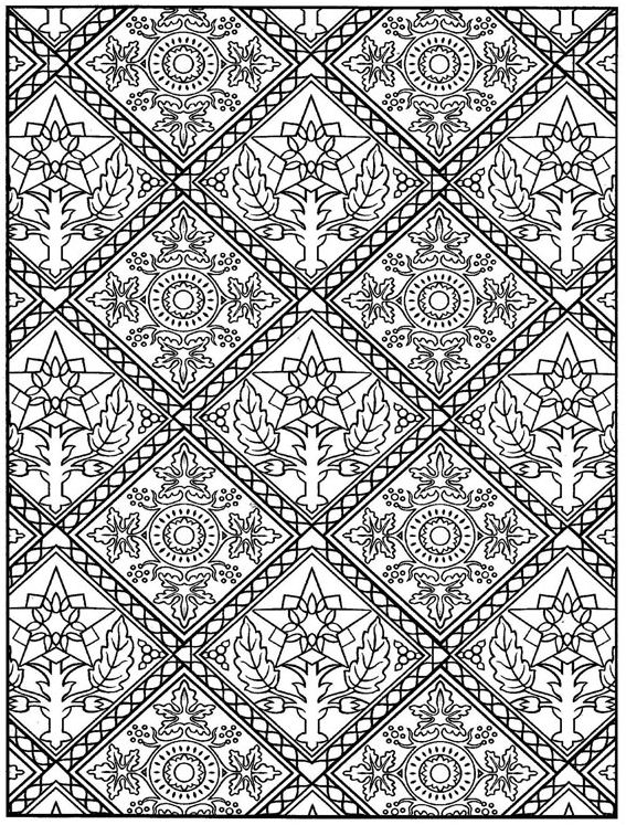 Tile Coloring Pages Printable : 模様 無料 : 無料