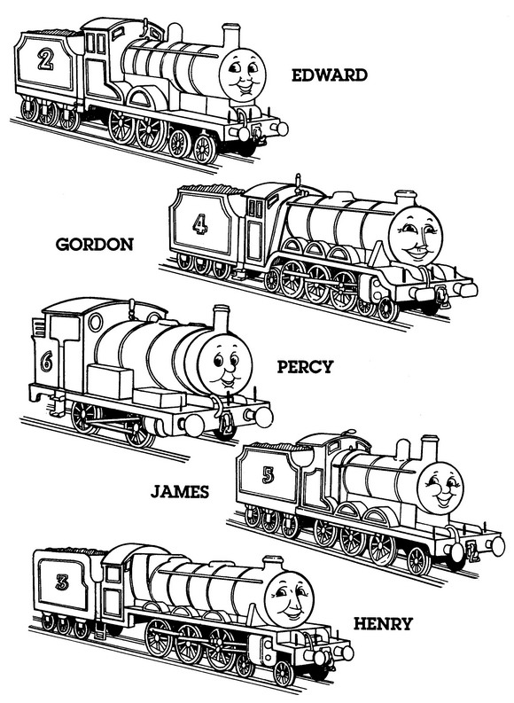 Kleurplaten en zo kleurplaten van thomas de trein for Printable thomas the train coloring pages