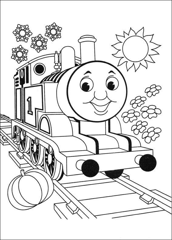 thomas color page - kleurplaten en zo kleurplaten van thomas de trein