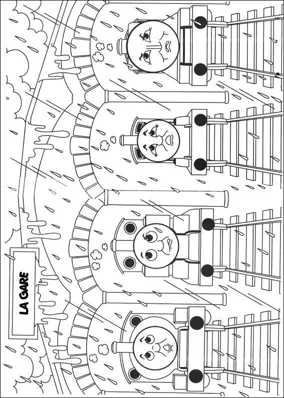 kleurplaten en zo » kleurplaten van thomas de trein
