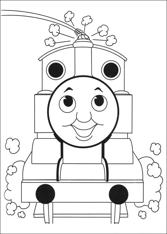 Kleurplaten en zo kleurplaten van thomas de trein for Thomas the train coloring pages