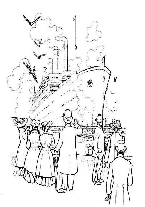 Kleurplaten en zo kleurplaten van titanic for Titanic coloring pages printable
