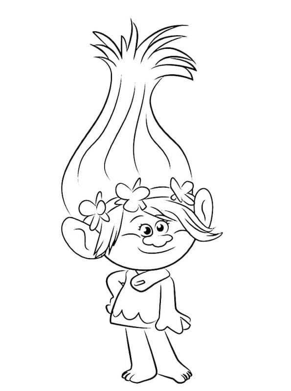 HD wallpapers troll poppy coloring page