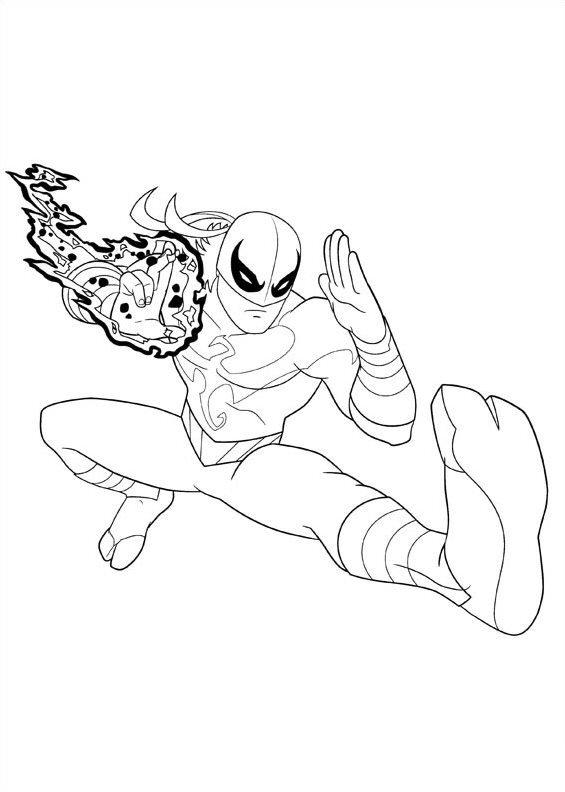 Kleurplaten en zo kleurplaten van ultimate spiderman for Iron spiderman coloring pages