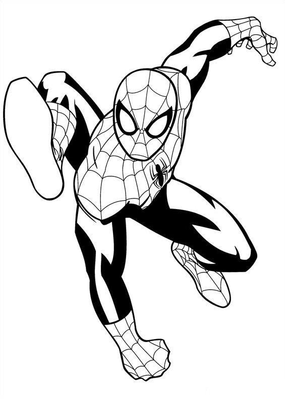 Kleurplaten En Zo Kleurplaten Van Ultimate Spiderman