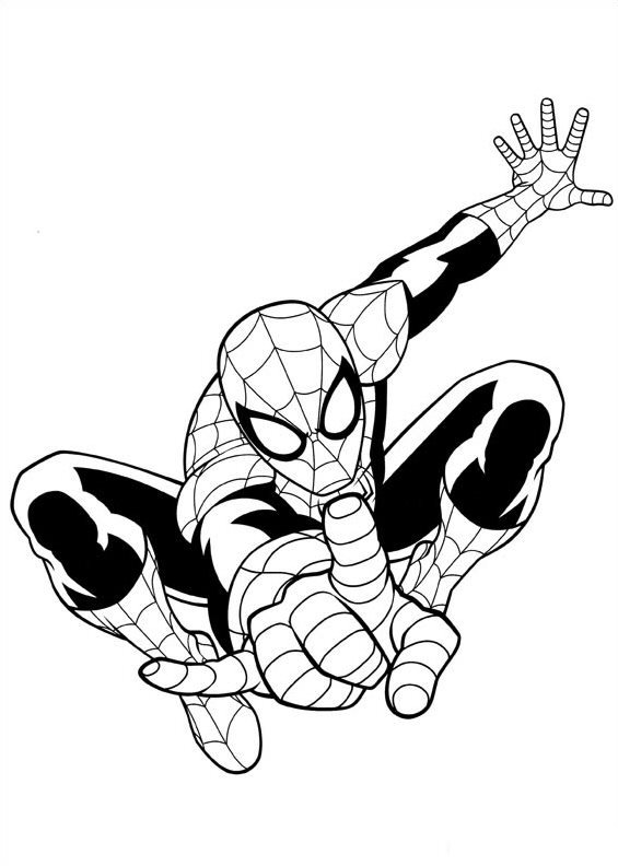 Print ultimate spiderman kleurplaat