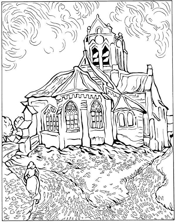 Free Vincent Gogh Coloring Pages Vincent Gogh Coloring Pages