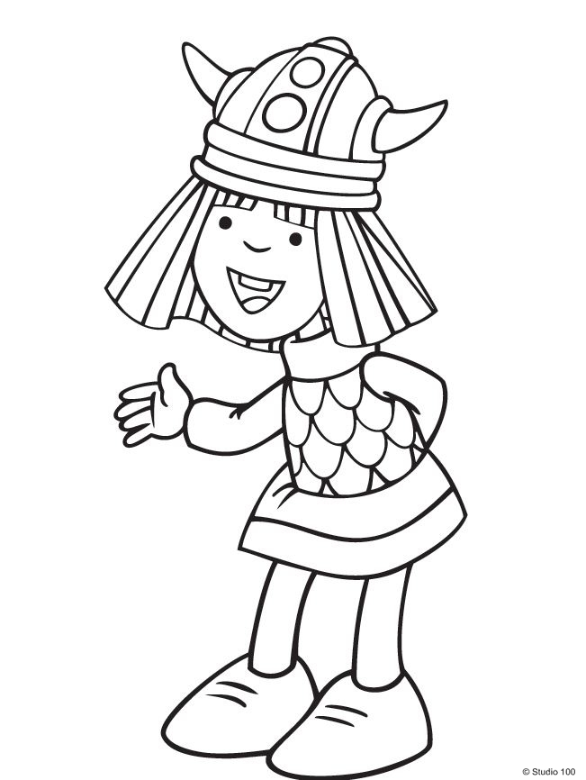 Free coloring pages of wicky the viking