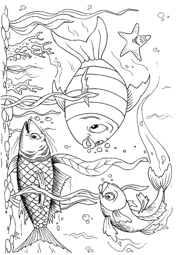 ocean scenes coloring pages - photo#16