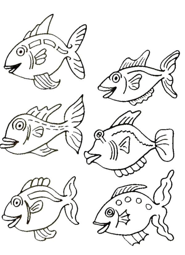 Zo >> kleurplaten en zo » Kleurplaat van Vissen