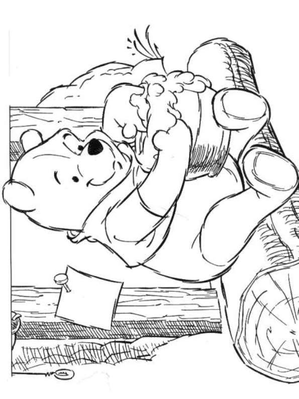 Kleurplaten Van Winnie The Pooh.Kleurplaten En Zo Kleurplaten Van Winnie De Pooh