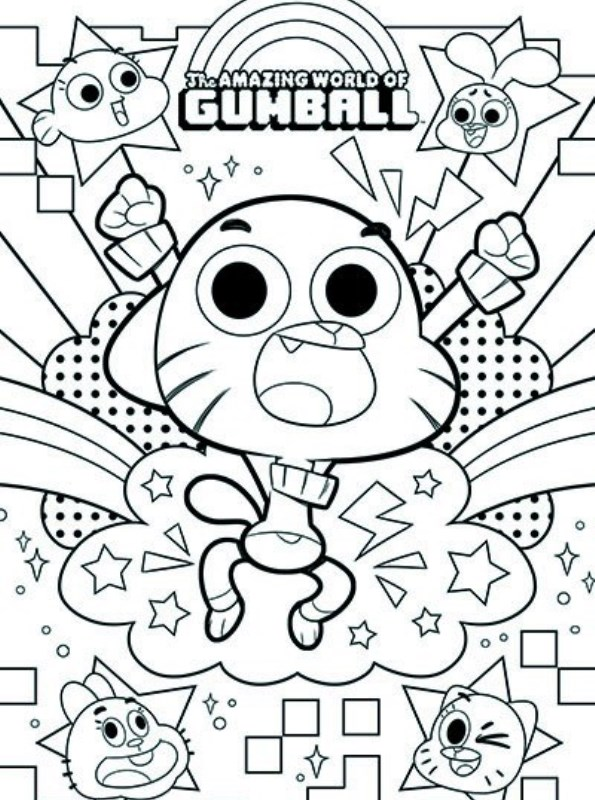 Print Amazing world of Gumball kleurplaat