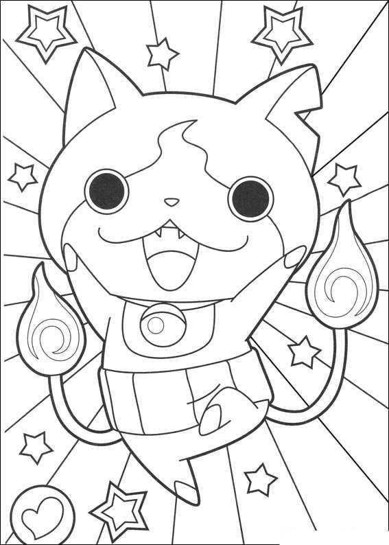 Print coloriage-yokai-watch-14381 kleurplaat