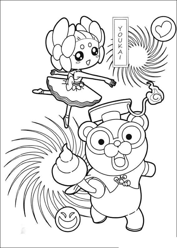 Kleurplaten en zo kleurplaat van yokai watch 4 for Yo kai watch coloring pages