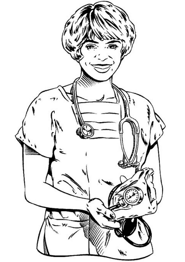 Coloring Pages For Hospital